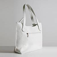 Шкіряна сумка модель 1 білий флотар, фото 1