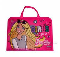 """491057 Папка-портфель на молнии с тканевыми ручками """"Barbie"""""""