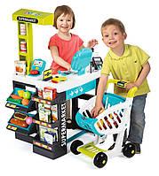 Интерактивный Магазин-супермаркет с тележкой Smoby 350206+41 аксессуара