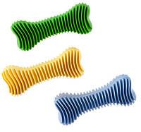 Игрушка для собак С ЗАПАХОМ ВАНИЛИ Sum-Plast Dent-a-Chew Ribbed Bone - 12 см