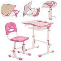 Парта со стульчиком металлическая Bambi C-302 для школьников регулируемая Бамби