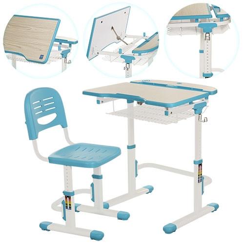 Парта со стульчиком металлическая Bambi C-302 для школьников регулируемая Бамби - фото 2