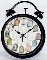 Металлические  настенные часы в форме будильника 45-9