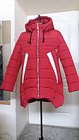 Зимняя молодежная женская куртка с фигурным низом (42-52)