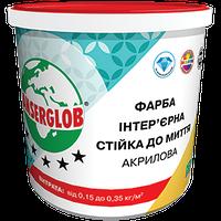Краска интерьерная акриловая стойкая к мытью Anserglob 14 кг
