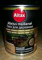 Декоративное защитное масло ALTAX Oliejus medienai на тунговой основе 0,75л.