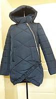Зимняя молодежная женская куртка с фигурным низом (42-62)