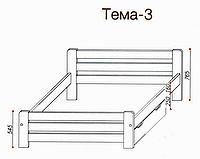 """Кровать """"Тема-3"""" из массива ольхи (Темп)"""