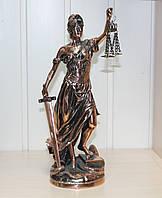 Статуэтка Фемида 32см с медным покрытием. Подарок юристу