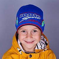 Вязаная шапка на мальчика оптом весна-осень 2016 - MOTO Sport - Артикул 1506