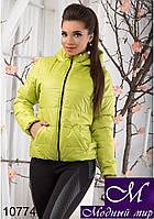 Женская стильная куртка с капюшоном 42, 44, 46 арт. 10774