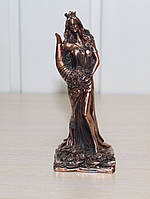 Статуэтка Фортуна с рогом изобилия 13см с медным покрытием