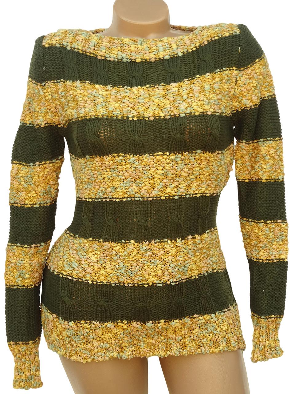 Вязаный свитер в полоски (44)