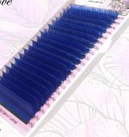 Ресницы Синие (растяжка 7-15) 20 линий