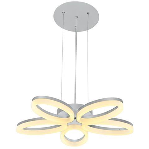 Светодиодная люстра Horoz 019-006-0040 LED 40W 4000K (подвес, белая) Код.58754