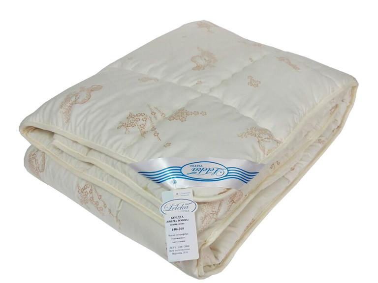 """Одеяло Leleka-Textil """"Овечья шерсть"""" весна-осень 140*205, шерсть 100%, 1266"""