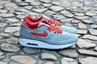 Кроссовки мужские  Nike Air Max 1 Ultra Grey Red