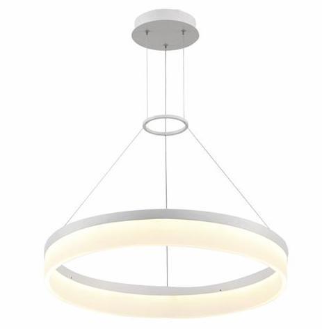 Светодиодная люстра Horoz 019-001-0024 LED 24W 4000K (подвес, круг, белая) Код.58755