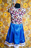 Платье - павлины от 1 до 10лет