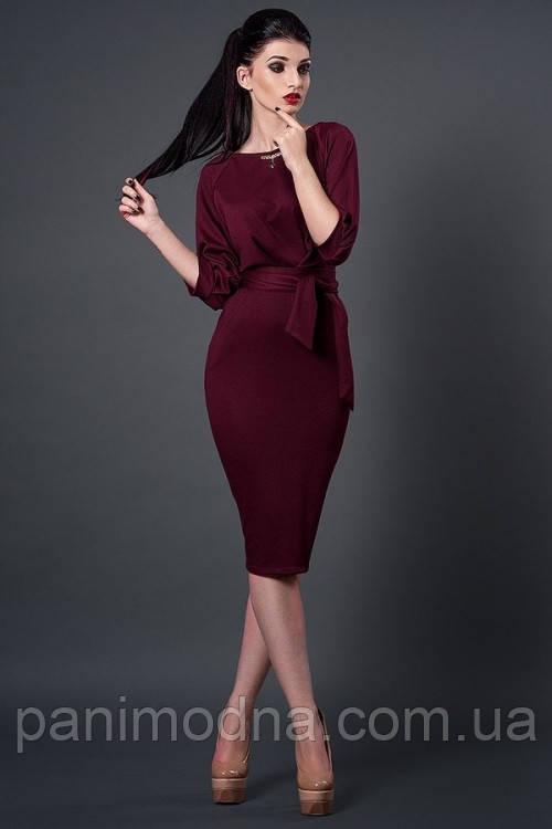 Платье футляр осеннее