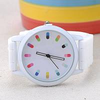 Часы наручные женские молодежные с силиконовым ремешком