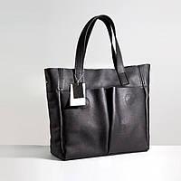 Шкіряна сумка модель 2 чорний флотар