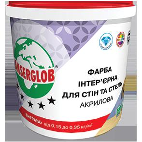 Краска интерьерная акриловая для стен и потолка Anserglob 7 кг