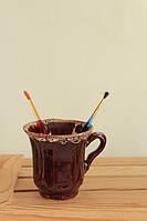 Чашка Ажур коричневая глазурь
