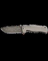 Нож LionSteel SR-1 Damascus лезвие 94 мм, дамаск, рукоять - титан, в деревянной коробке