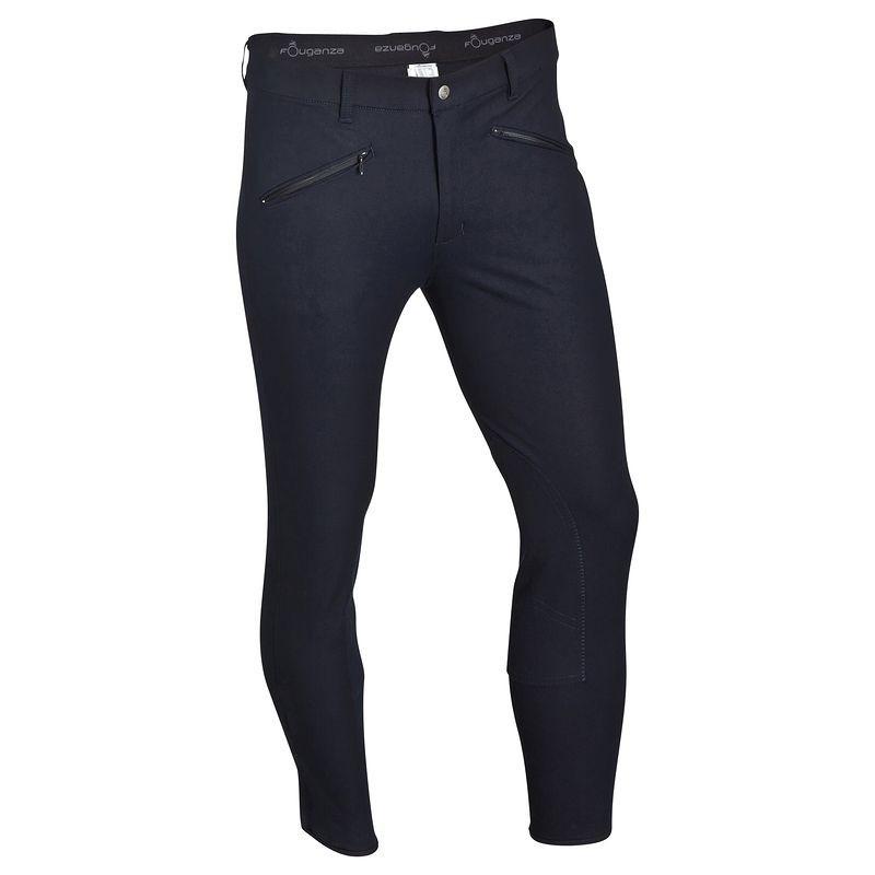 Штаны для конного спорта, брюки мужские Fouganza BASIC синие - priyatili.com в Львове