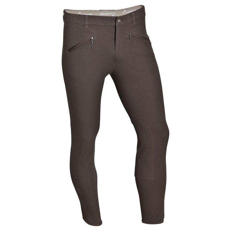 Штаны для конного спорта, брюки мужские Fouganza BASIC коричневые - priyatili.com в Львове