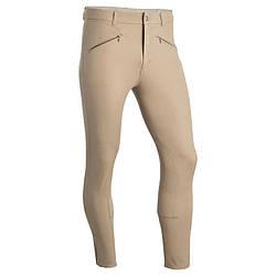 Штаны для конного спорта, брюки мужские Fouganza BASIC бежевые