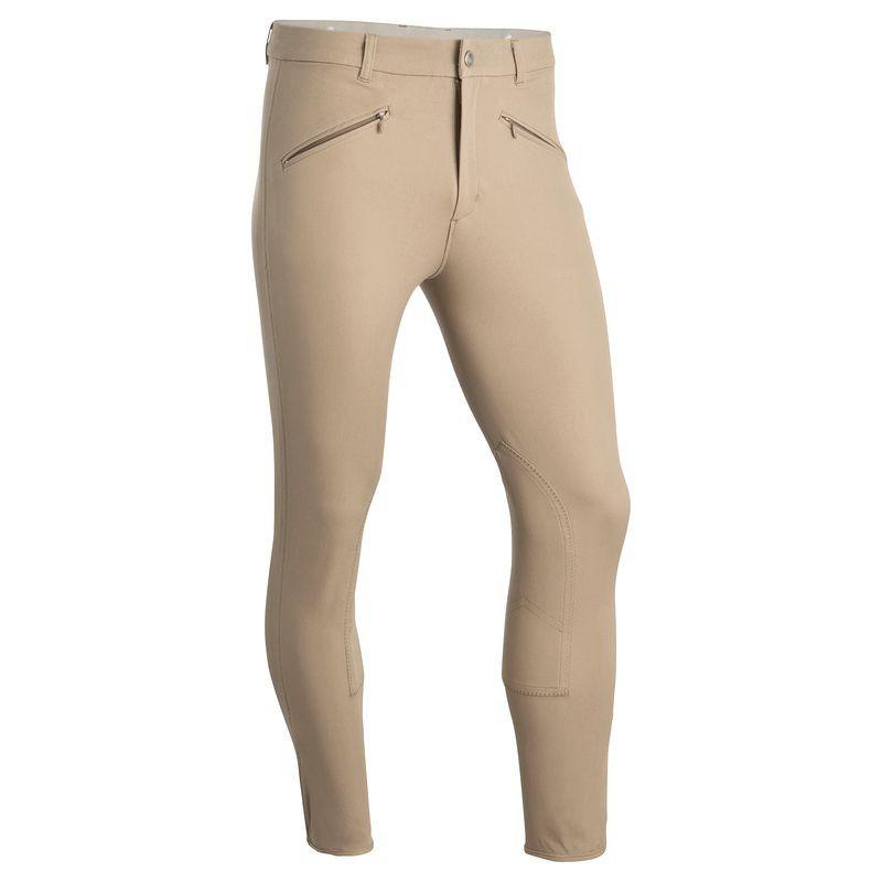 Штаны для конного спорта, брюки мужские Fouganza BASIC бежевые - priyatili.com в Львове