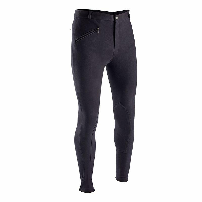 Штаны для конного спорта, брюки мужские Fouganza SCHOOLING черные - priyatili.com в Львове