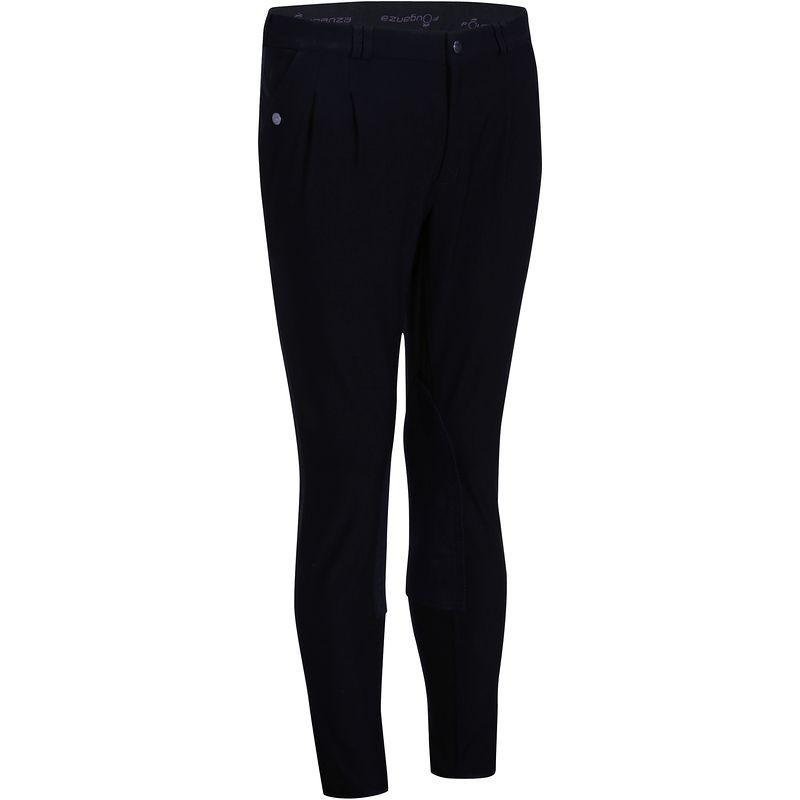Штаны для конного спорта, брюки мужские Fouganza RIDING черные - priyatili.com в Львове