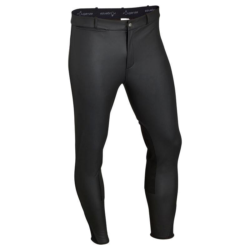 Штаны для конного спорта, брюки мужские Fouganza KIPWARM черные - priyatili.com в Львове