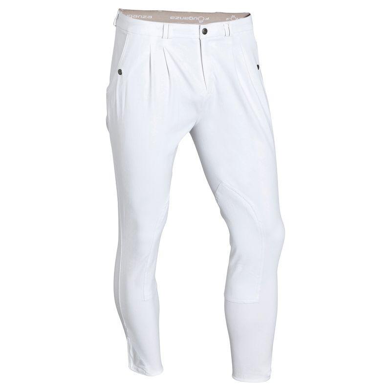 Штаны для конного спорта, брюки мужские Fouganza RIDING белые - priyatili.com в Львове