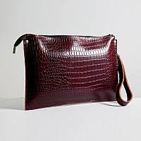 Кожаная сумка  клатч модель 7 кайман