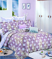 Комплект постельного белья сатин односпальный крупный горох