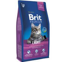 Сухой корм Brit Premium Cat Light для котов 8 кг