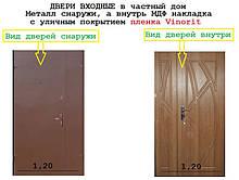 ДВЕРІ ВХІДНІ в приватний будинок 1,20 ширина висота 2,05