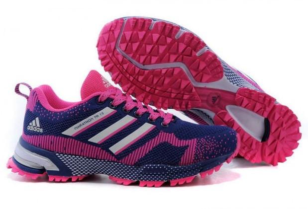 Кроссовки Adidas Marathon   сине-розовые женские