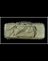 Кейс VEKTOR из капрона зелёный с пенополиэтиленом и креплением оружия системой молле с карманом