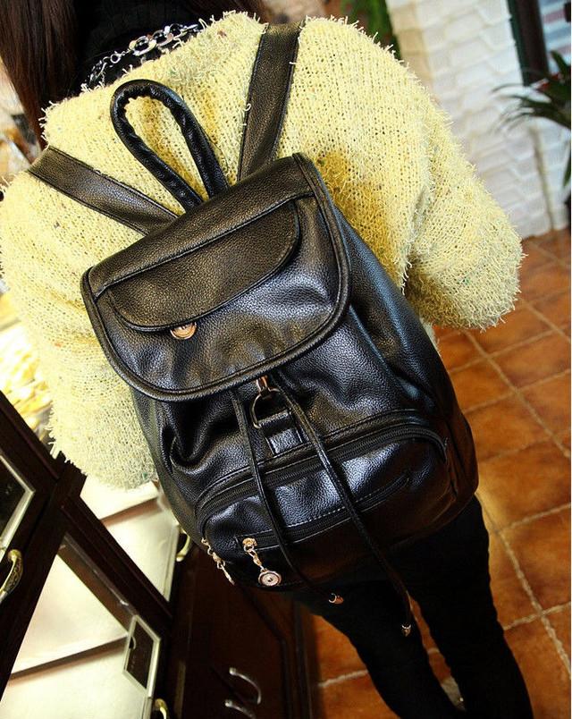Женский молодежный рюкзак из кожзама