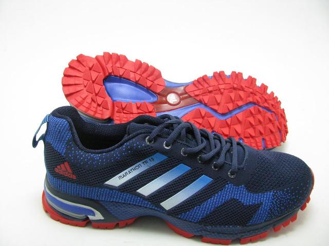 Мужские кроссовки Adidas Marathon сине-красные оригинал