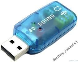 USB звуковая карта для ноутбука или ПК