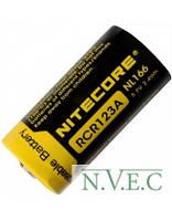 Аккумулятор литиевый Li-Ion CR123A Nitecore NL166 3.7V (650mAh), защищенный