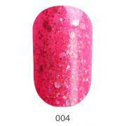 Гель-лак Koto 5 мл (ярко-розовый с серебристыми голографическими блестками)