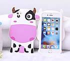 Чехол силиконовый 3D Cartoon Cute White Cow Soft Silicon Case для iPhone 6/6S Plus, фото 2