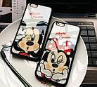 Чехол силиконовый 3D Mickey Mouse Kiss Glass Silicone Mirror Case для iPhone 6/6S Plus, фото 2
